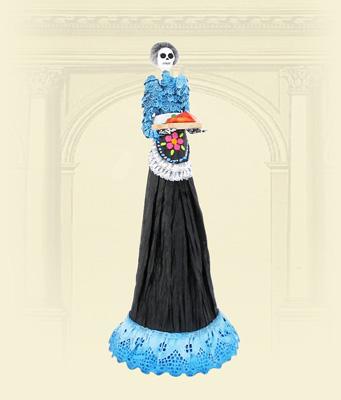 Catrinas Modelado En Papel Decorado A Mano Por Mary Carmen