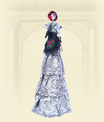 Catrinas, Modelado en Papel decorado a mano, por Mary ...